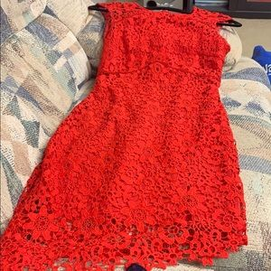 Size 4 red dress bebe